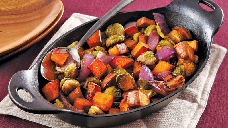 Fall Roasted Vegetables  Roasted Fall Ve ables Recipe BettyCrocker