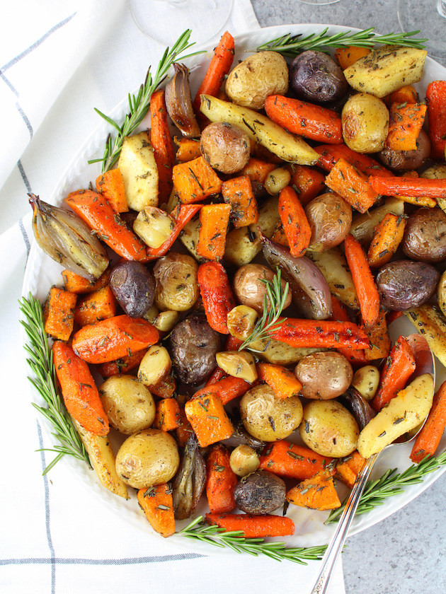 Fall Roasted Vegetables  Roasted Fall Ve ables with Rosemary