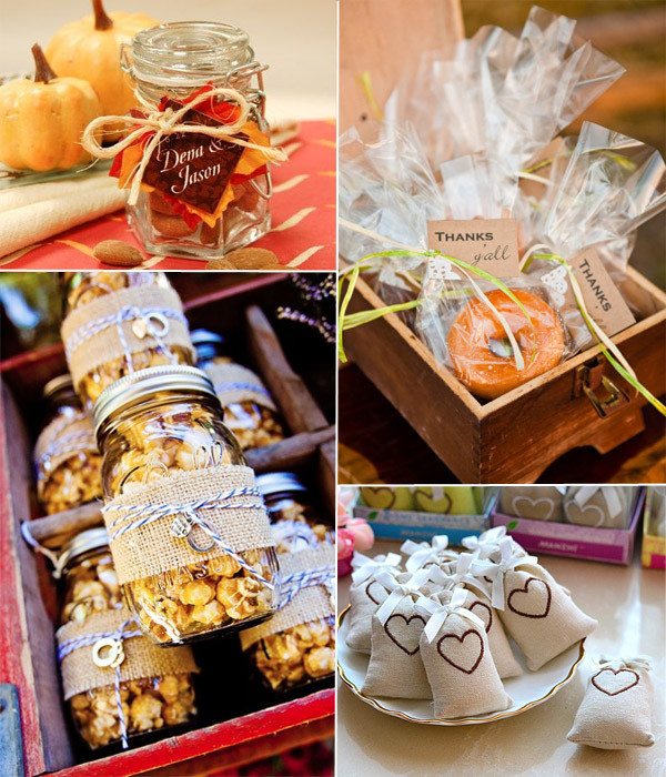 Fall Wedding Favors  10 Incredible Wedding Details for Fall Wedding 2014