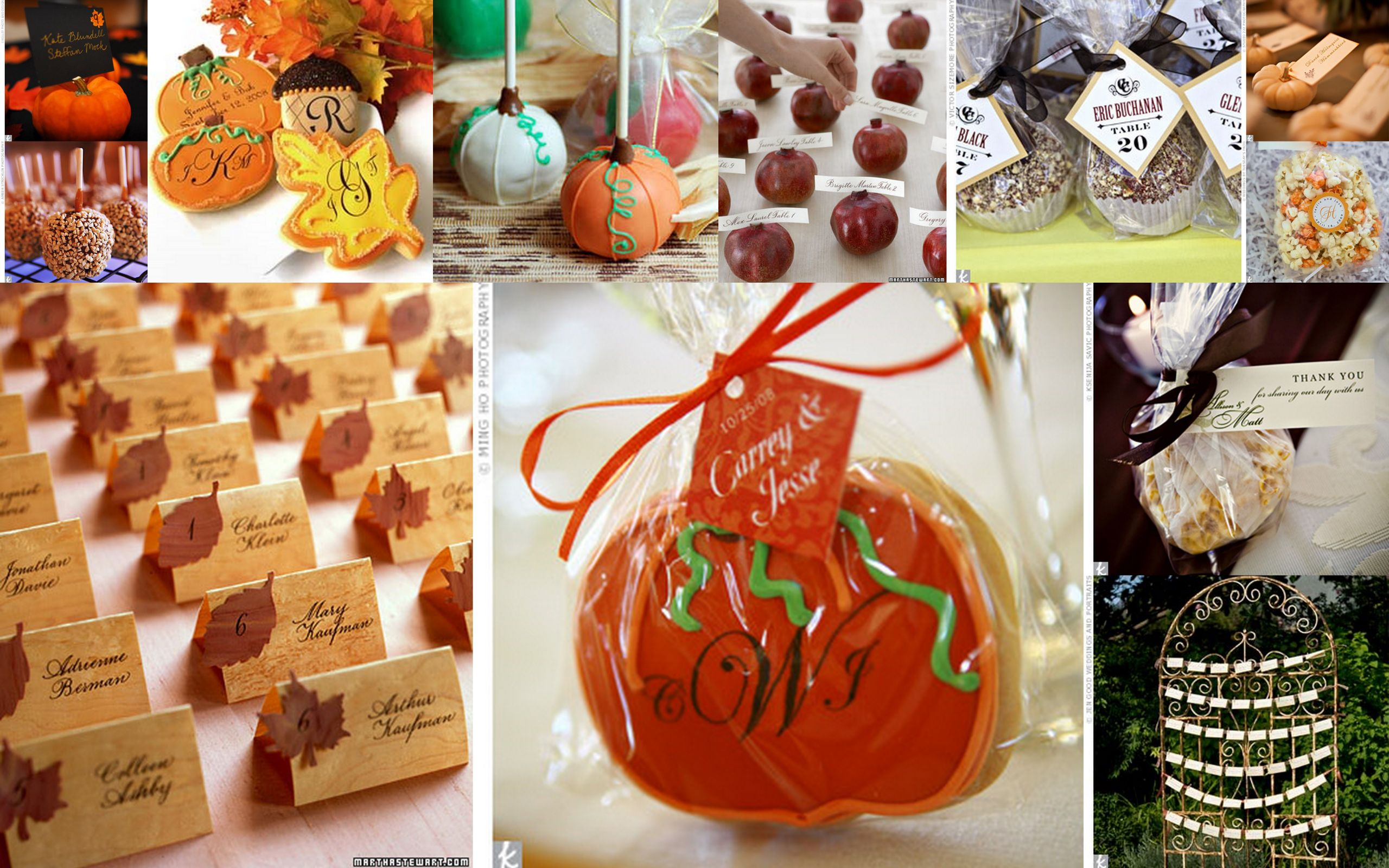 Fall Wedding Favors  fall wedding inspiration