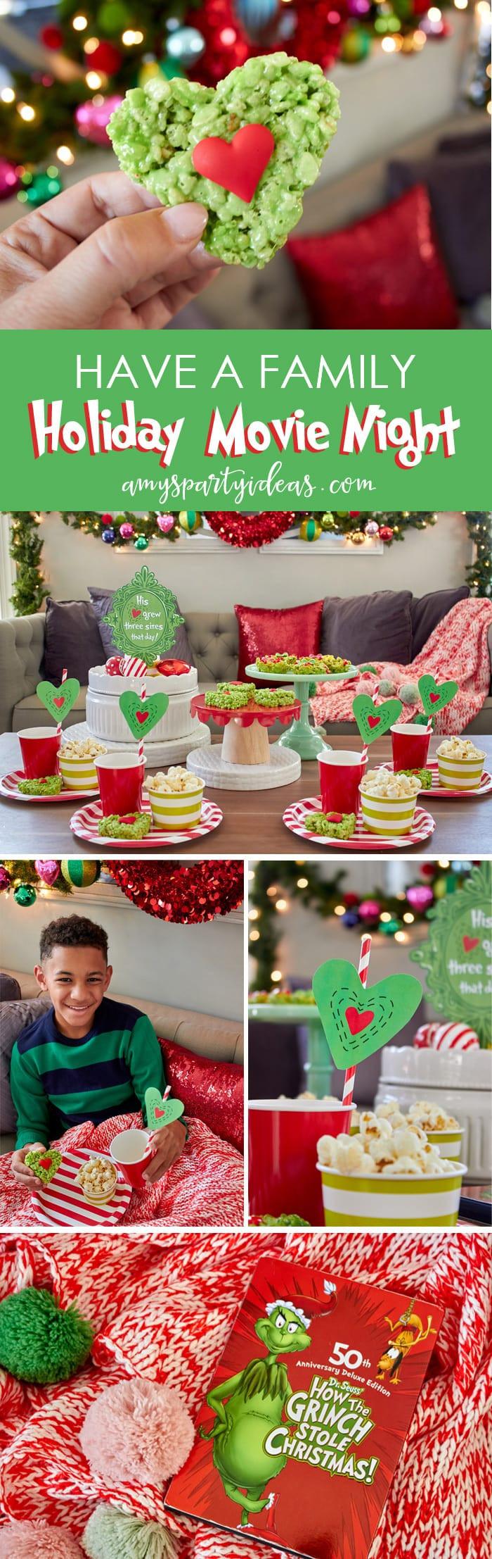Family Holiday Party Ideas  Holiday Family Movie Night