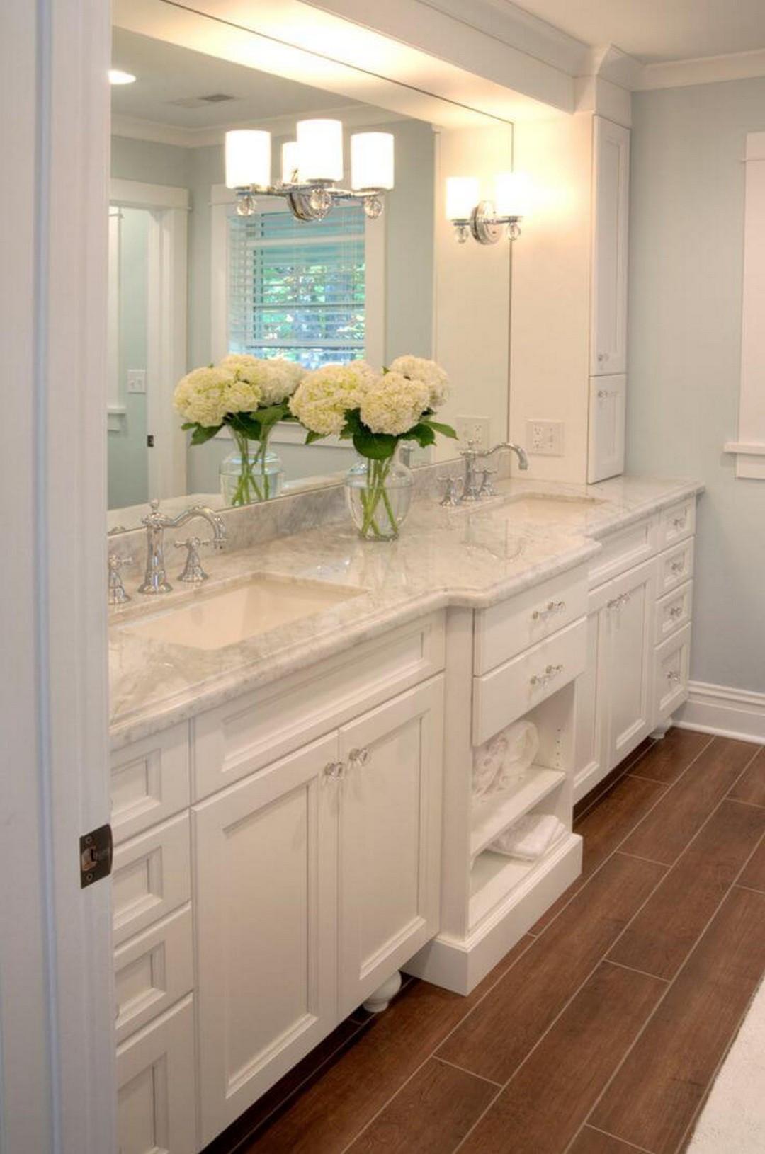 Farmhouse Master Bathroom  Urban Farmhouse Master Bathroom Remodel GoodNewsArchitecture