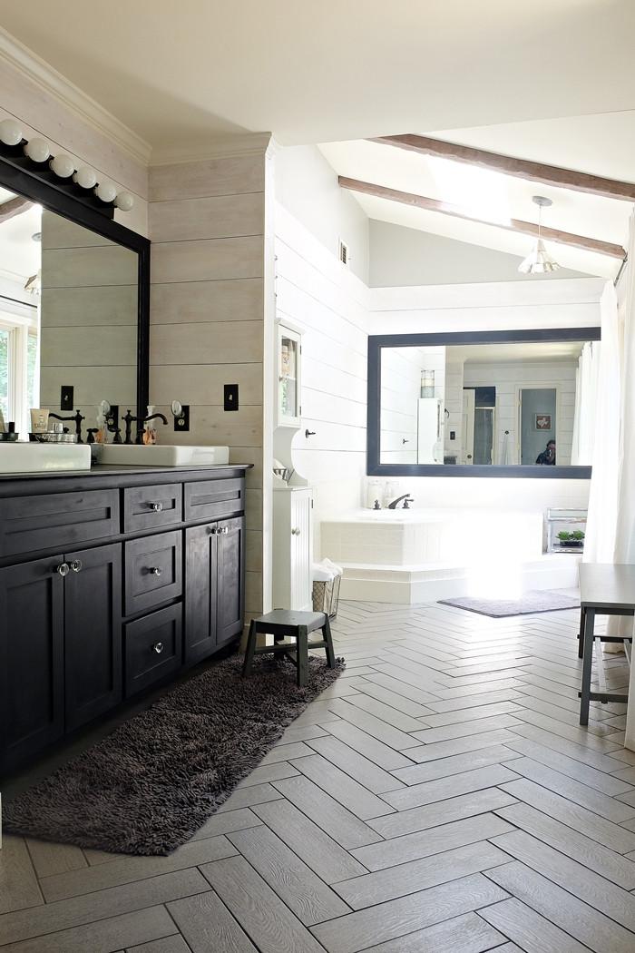 Farmhouse Master Bathroom  Kristi s Modern Farmhouse Rustic Glam Master Bathroom