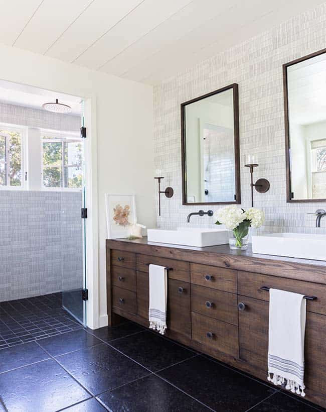 Farmhouse Master Bathroom  Modern farmhouse style with timeless interiors in Northern