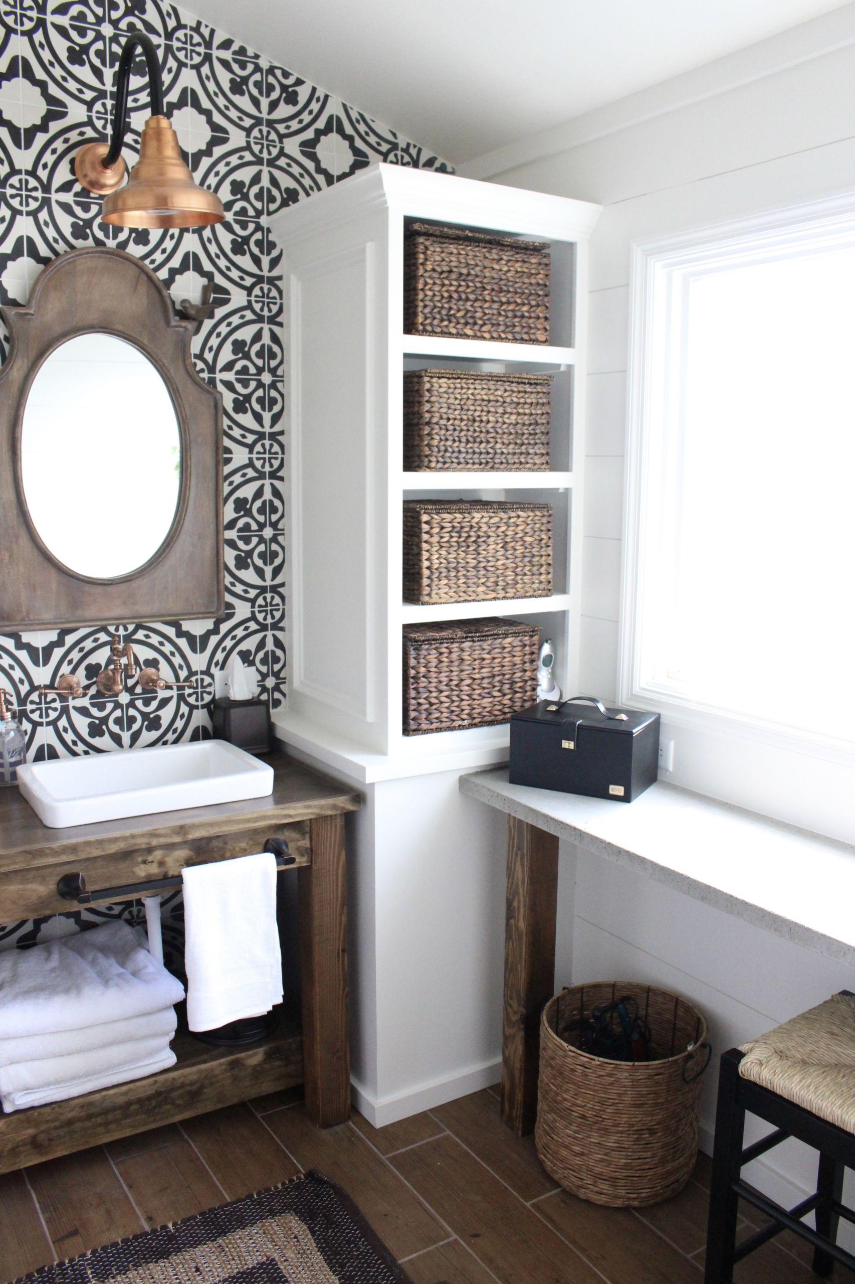 Farmhouse Master Bathroom  Modern Farmhouse Bathroom Remodel Reveal
