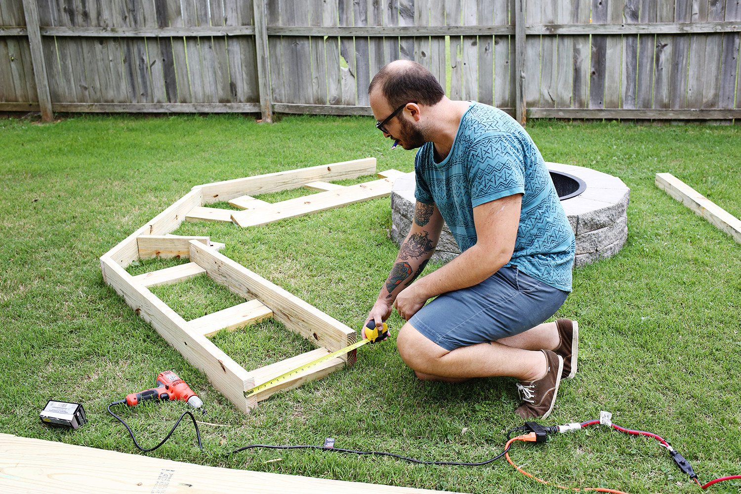 Fire Pit Bench  Build Your Own Curved Fire Pit Bench A Beautiful Mess