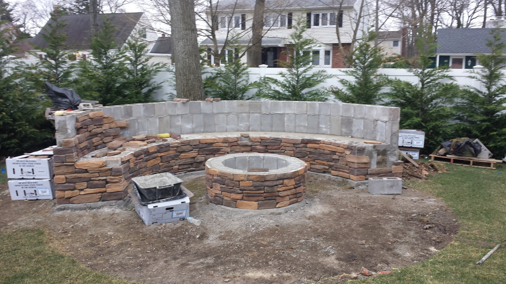 Fire Pit Bench  BUILDING A CUSTOM BENCH AND FIRE PIT Ceraso Masonry