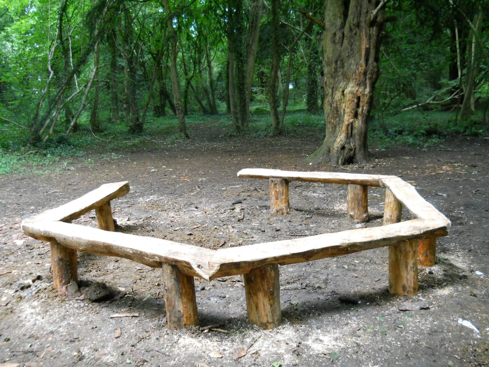 Fire Pit Bench  Benches at Stoke Park Lockleaze