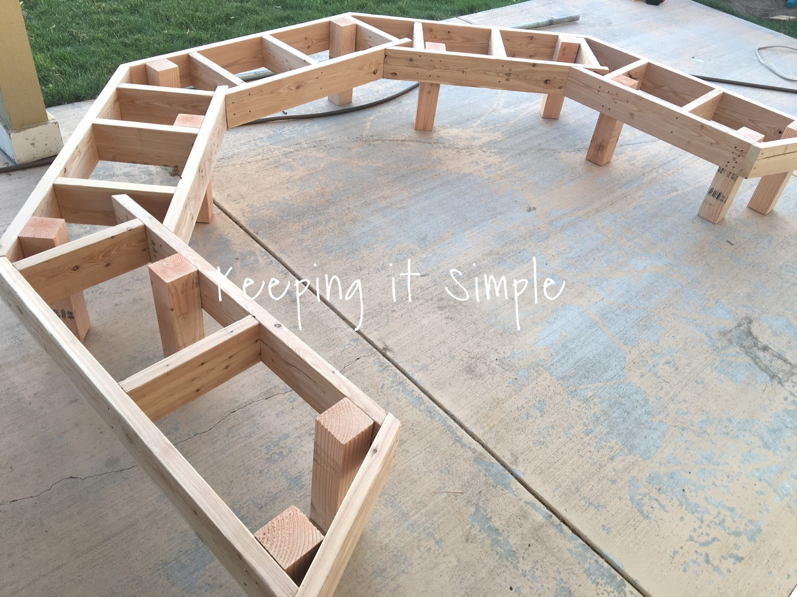 Fire Pit Bench  DIY Fire Pit Bench with Step by Step Insructions • Keeping