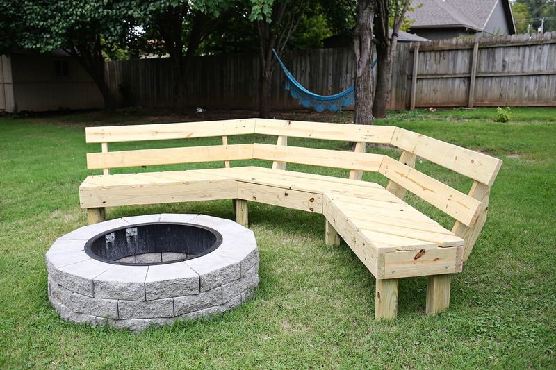 Fire Pit Bench  Build Your Own Curved Fire Pit Bench – A Beautiful Mess