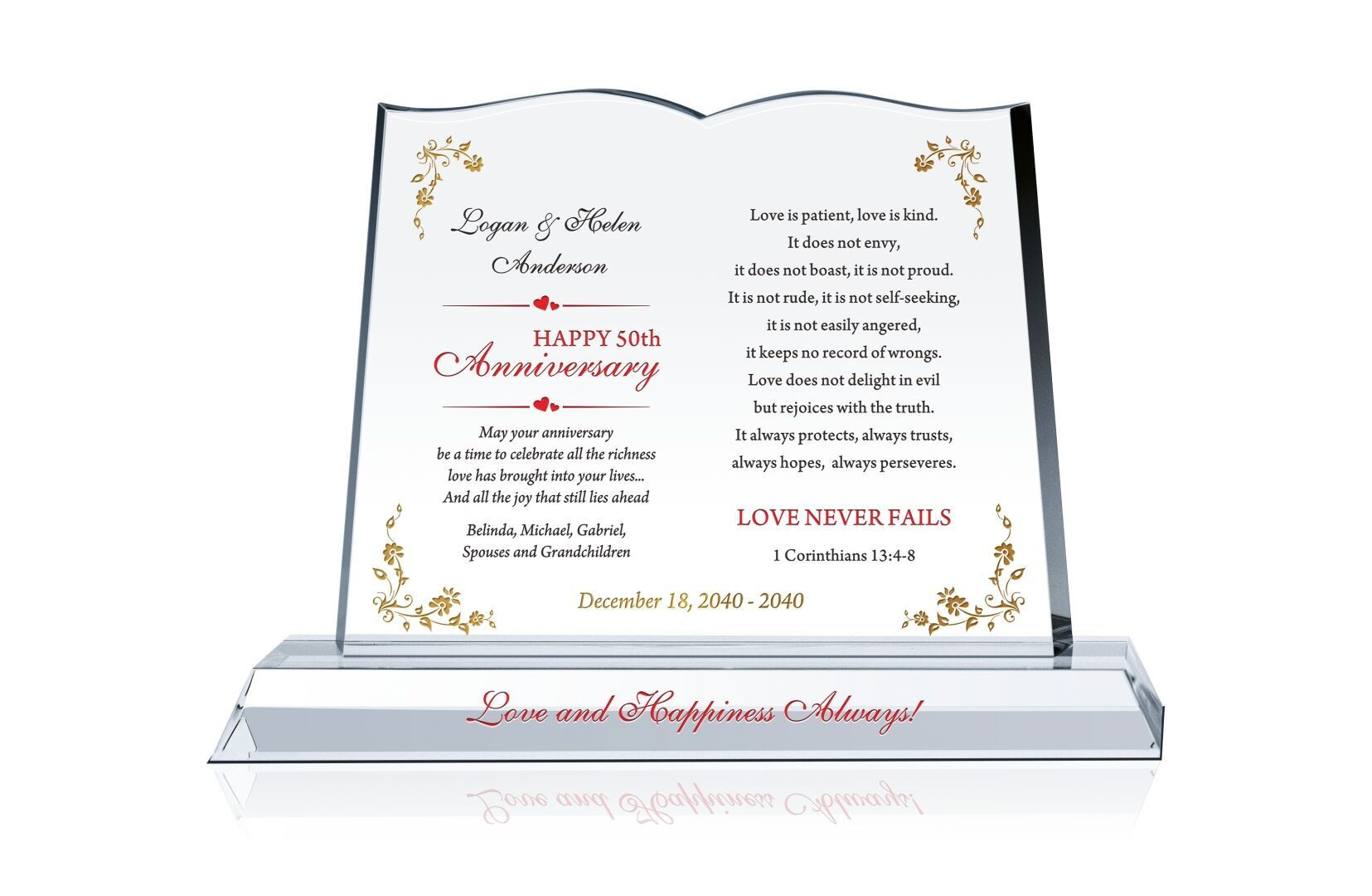 First Anniversary Gift Ideas For Couple From Parents  Anniversary Gift for Couple Crystal Central