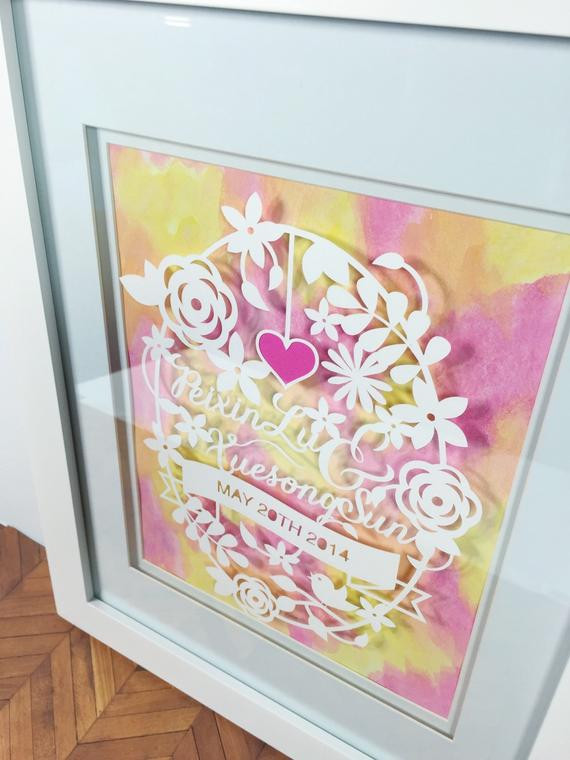 First Anniversary Gift Ideas For Couple From Parents  e Year Anniversary Gift First Wedding Anniversary Gifts