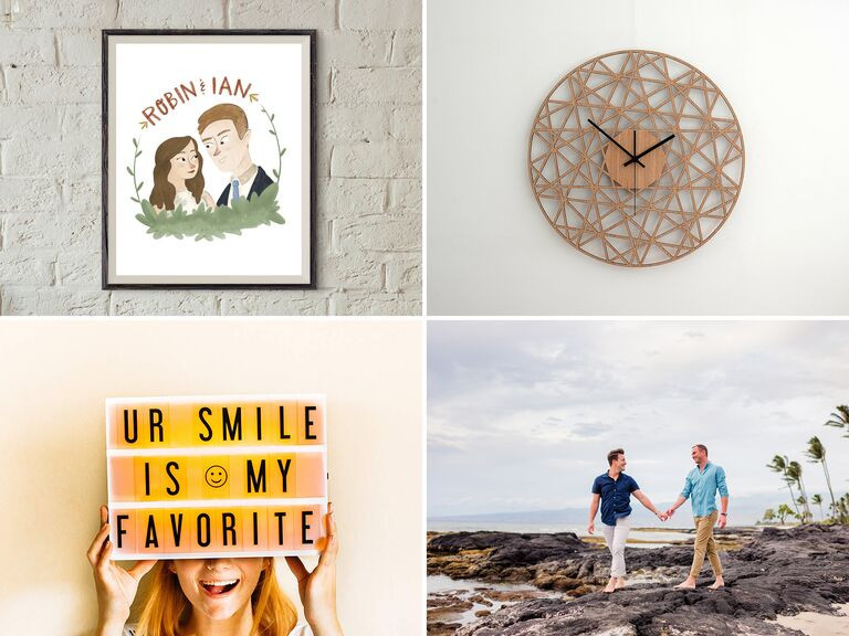First Anniversary Gift Ideas For Couple From Parents  1 Year Anniversary Gifts for Him Her and the Couple