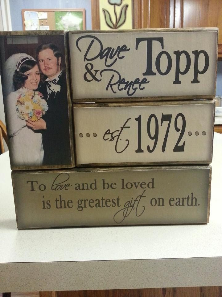 First Anniversary Gift Ideas For Couple From Parents  Wedding Engagement Anniversary Stacker with photo