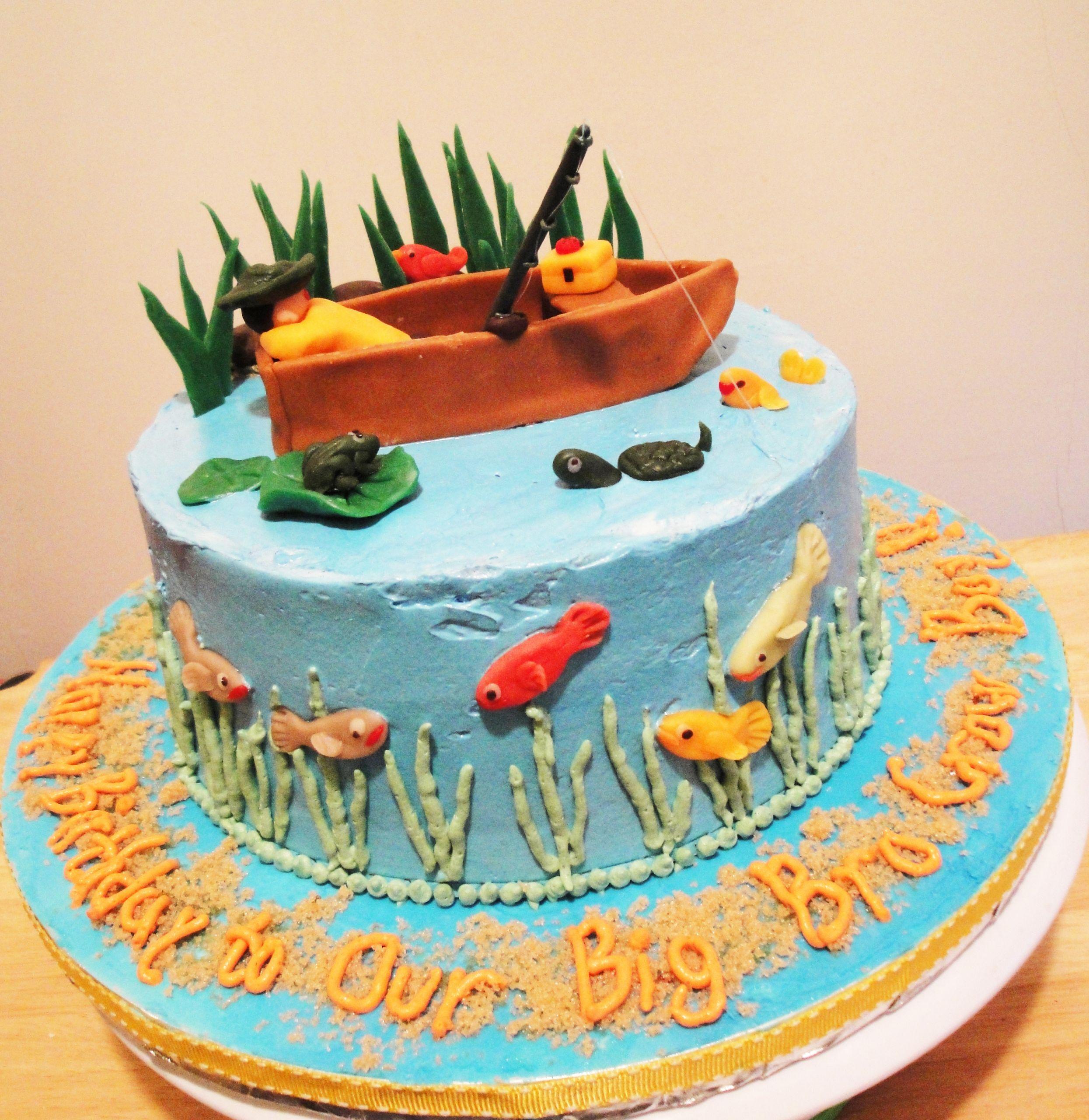 Fishing Birthday Cakes  Gone Fishing Birthday Cake – Twee tea licious