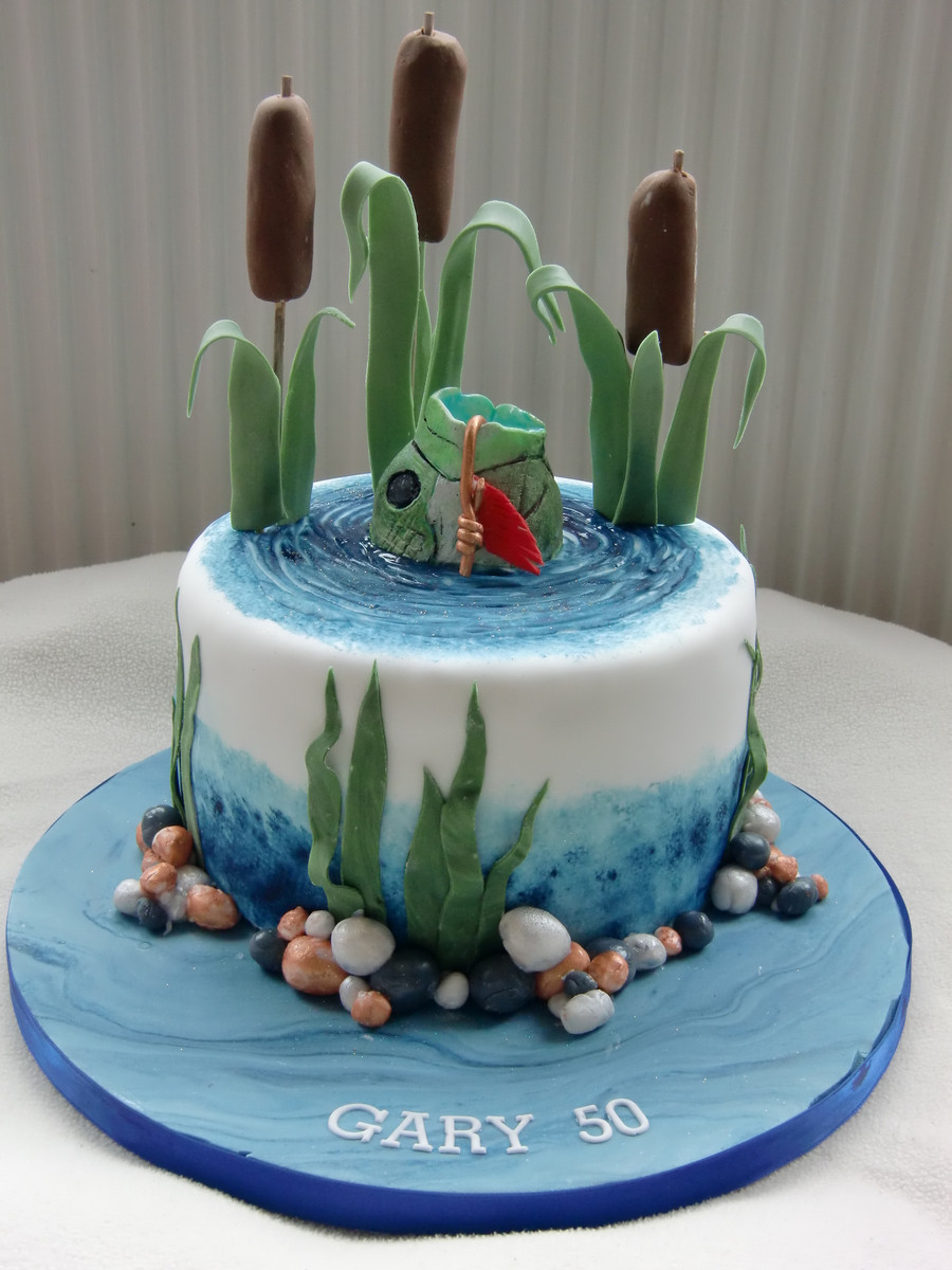 Fishing Birthday Cakes  Fishing Cake CakeCentral