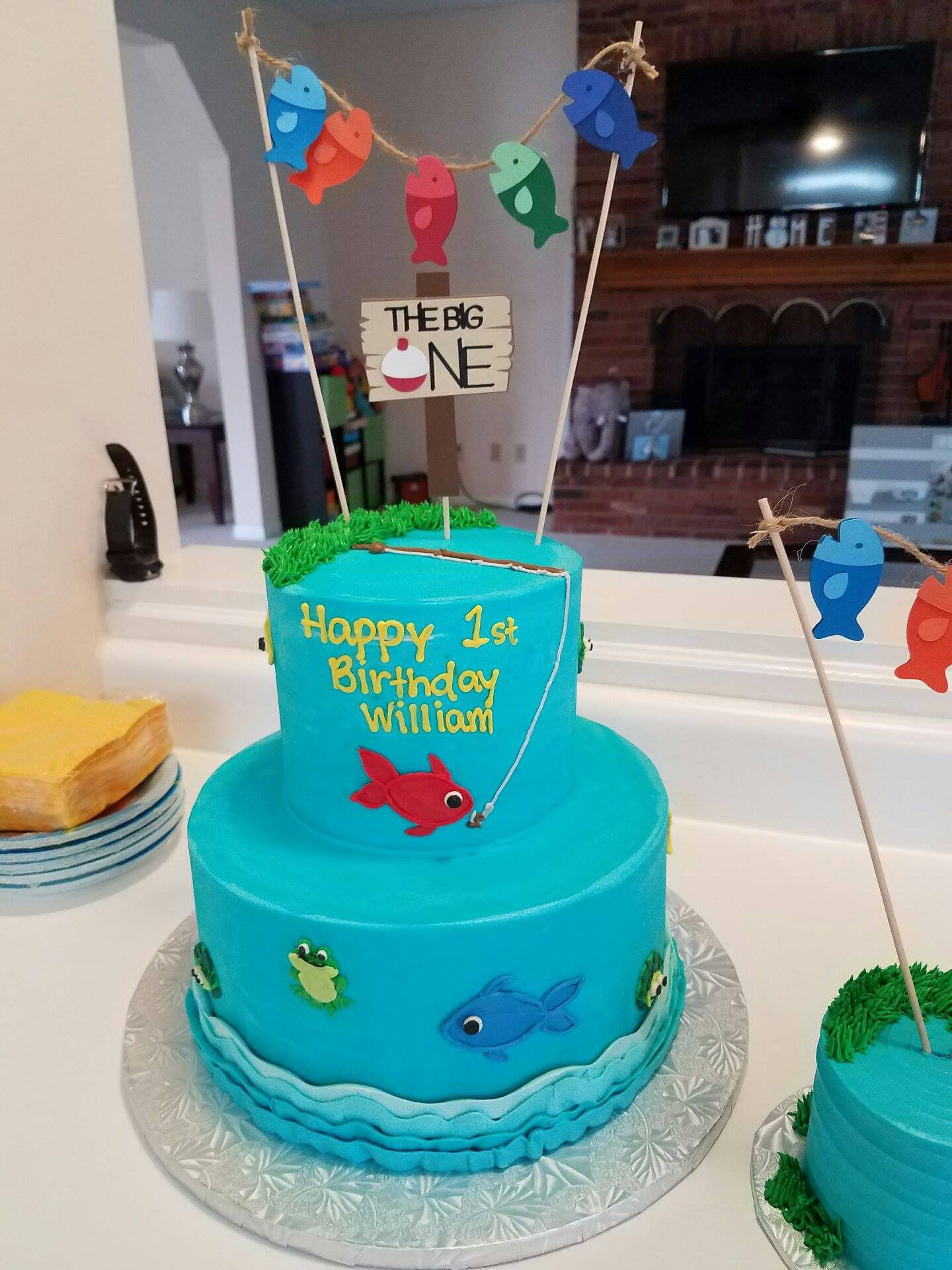 Fishing Birthday Cakes  Fishing First Birthday Cake Topper Gone Fishing Topper The