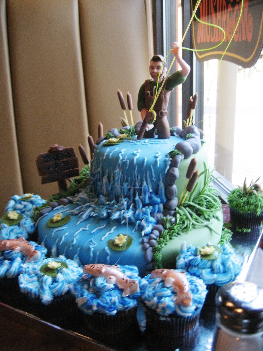 Fishing Birthday Cakes  Fly Fishing Birthday Cake CakeCentral