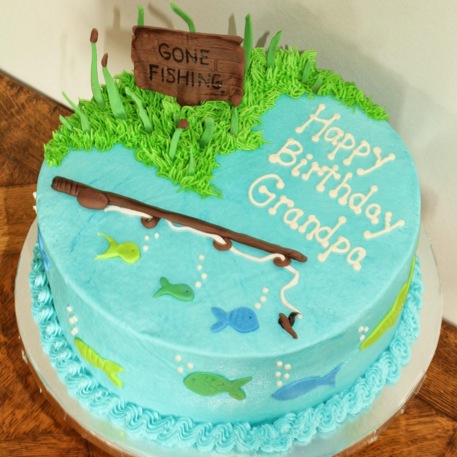 Fishing Birthday Cakes  Kake Gone Fishing Cake