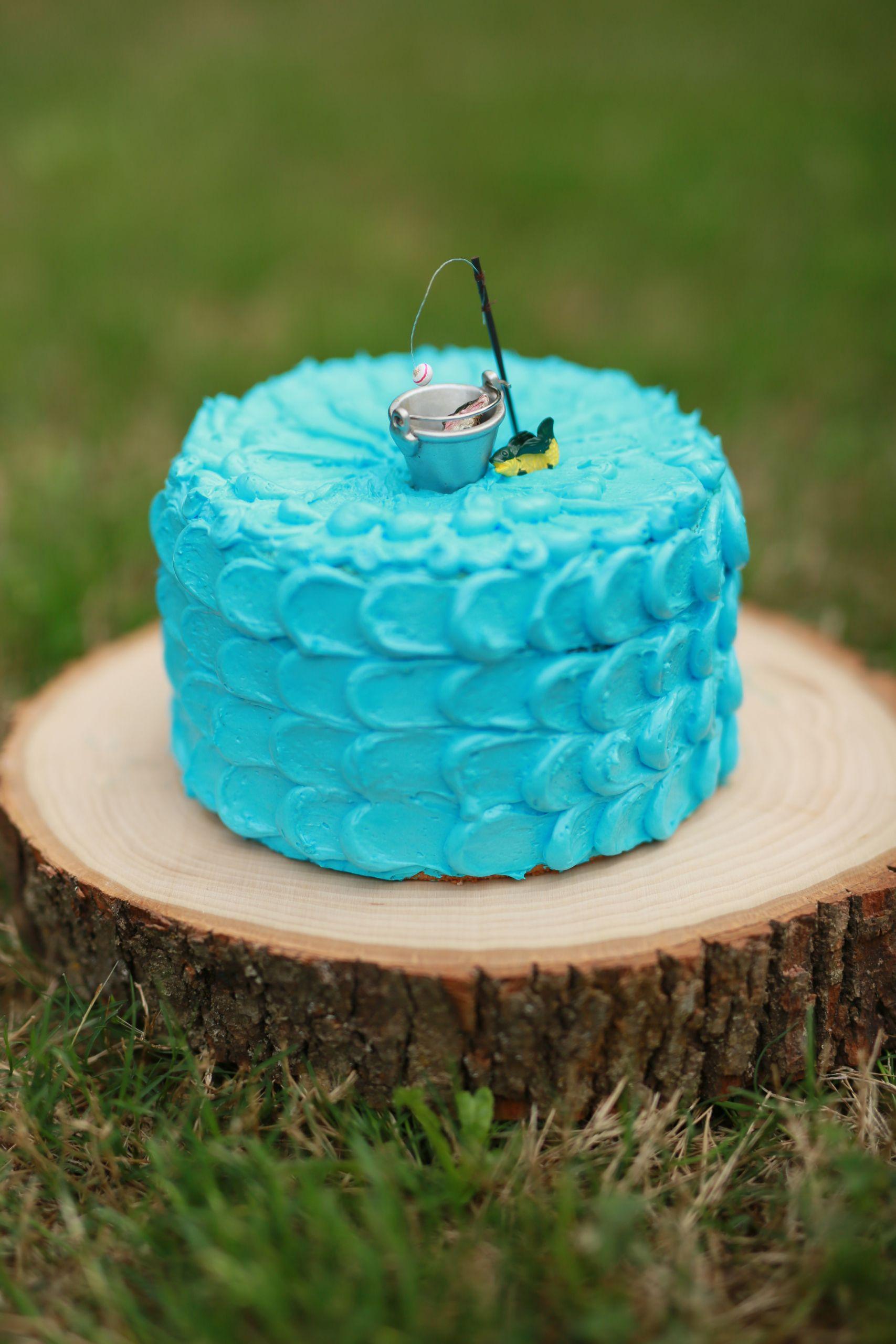 Fishing Birthday Cakes  Smash Cake Session Newnan Ga Child grapher