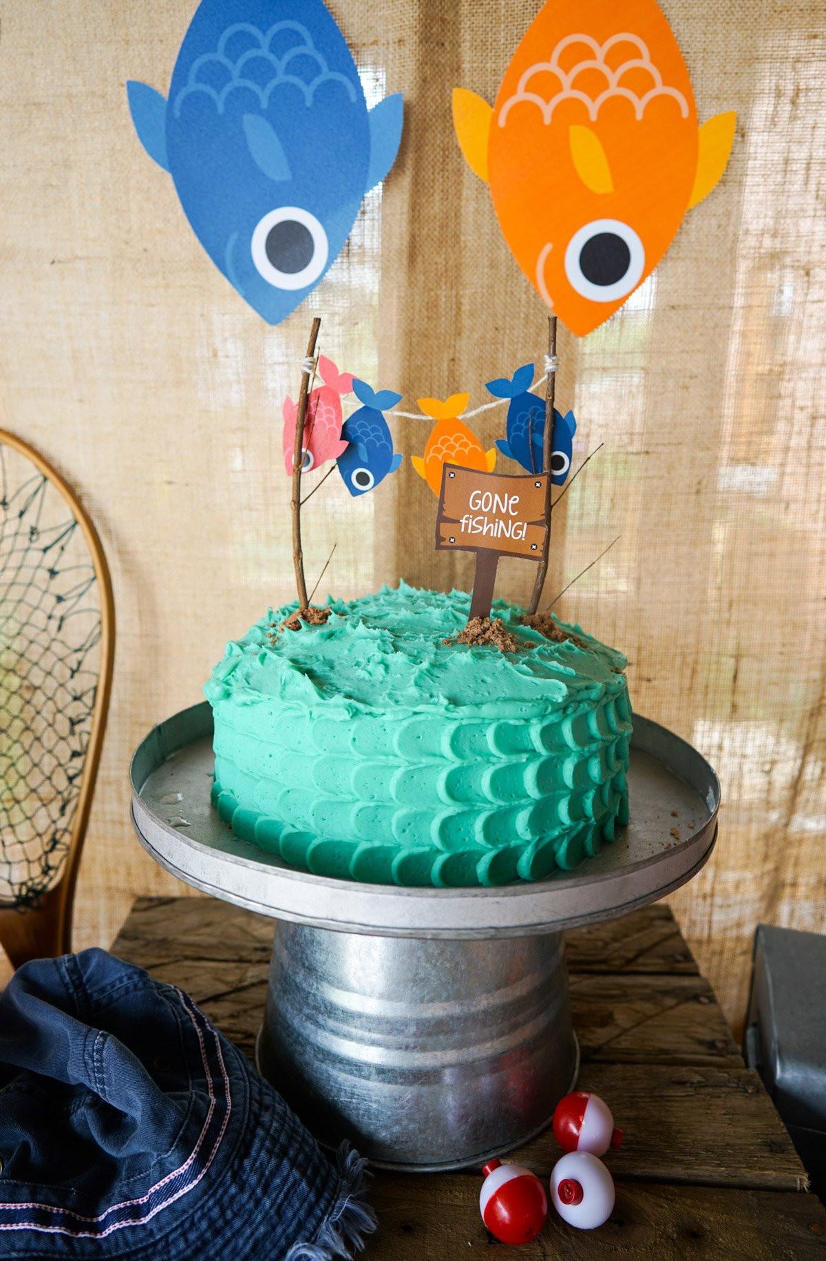 Fishing Birthday Cakes  William s Gone Fishing Party – Sunshine Parties