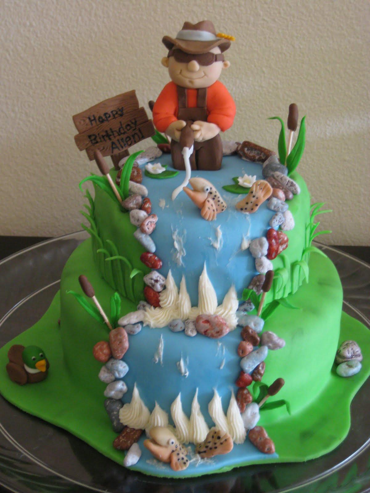 Fishing Birthday Cakes  Bashert Cakes Fly Fishing Birthday Cake
