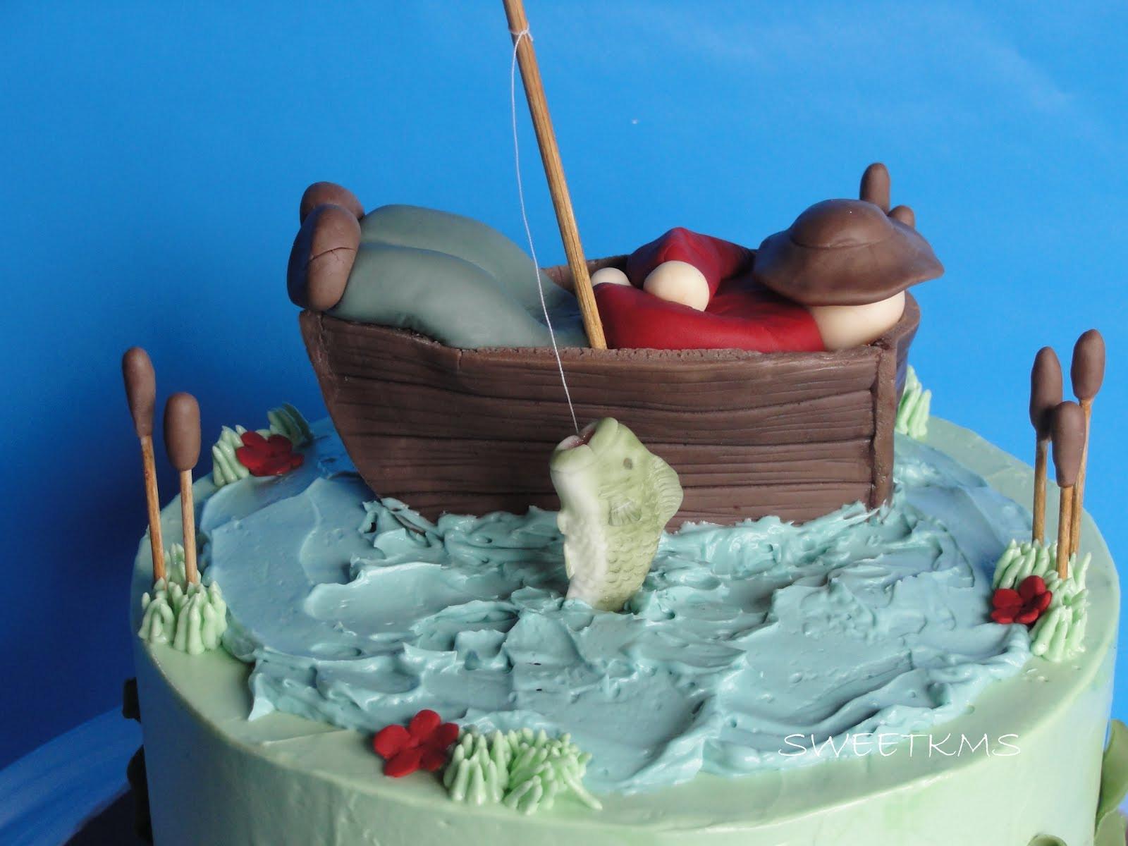 Fishing Birthday Cakes  SWEET Fishing Cake