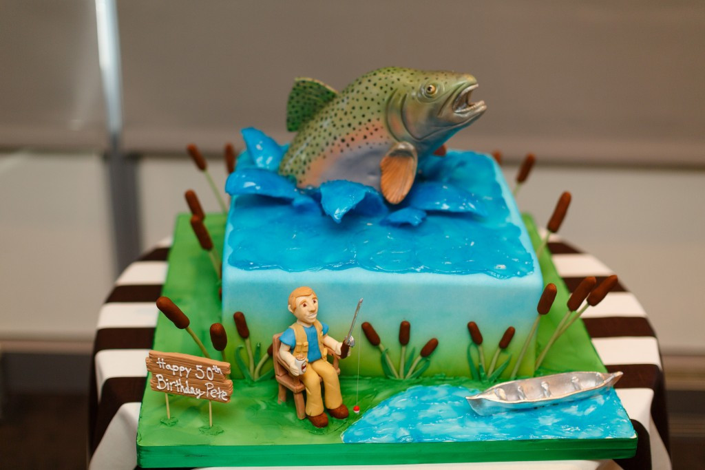 Fishing Birthday Cakes  Details from an Epic 50th Birthday Party at the Newseum