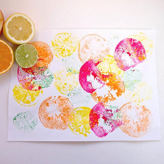Fruit Crafts For Toddlers  Fruit Print Crafts For Kids