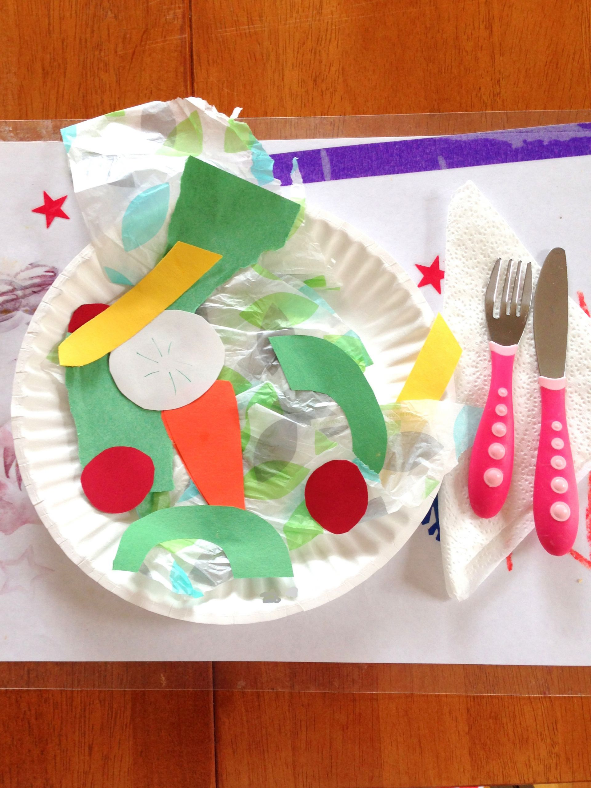 Fruit Crafts For Toddlers  Toddler Craft Project – Construction Paper Salad – Styled