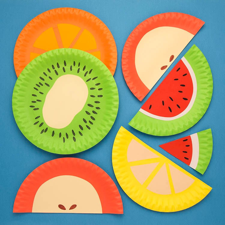 Fruit Crafts For Toddlers  Paper Plate Fruits Free Craft Ideas