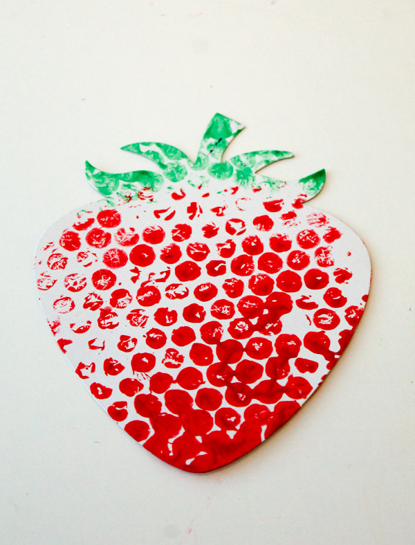 Fruit Crafts For Toddlers  Bubble Wrap Printed Fruit & Veg In The Playroom