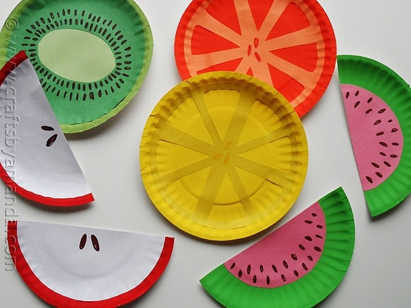 Fruit Crafts For Toddlers  Paper Plate Fruit crafts for kids Crafts by Amanda