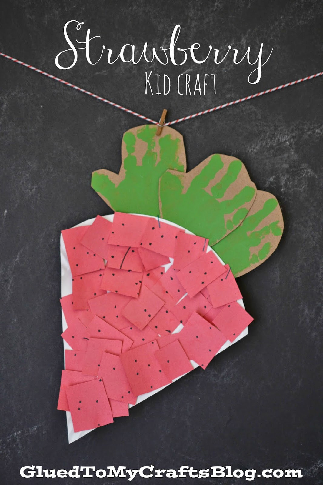 Fruit Crafts For Toddlers  Paper Plate Strawberry Kid Craft Glued To My Crafts