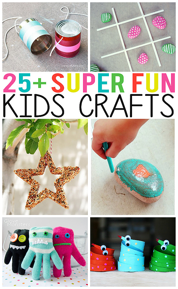 Fun Projects For Toddlers  25 Super Fun Kids Crafts Eighteen25