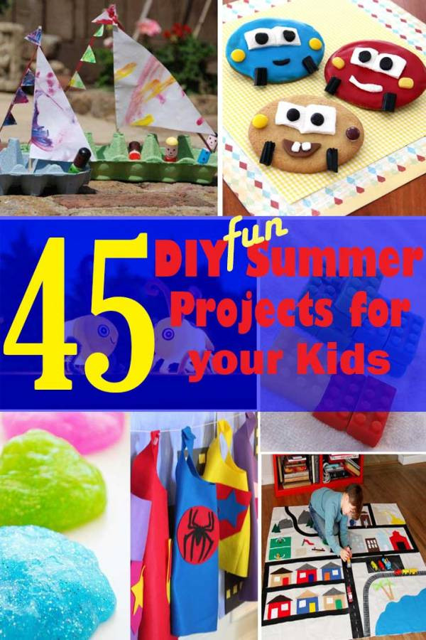 Fun Projects For Toddlers  45 DIY Fun Summer Projects to do with your Kids The