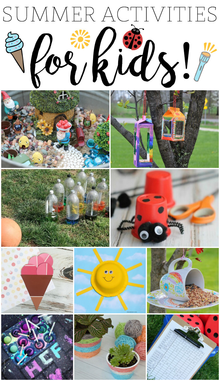 Fun Projects For Toddlers  Fun Summer Activities for Kids