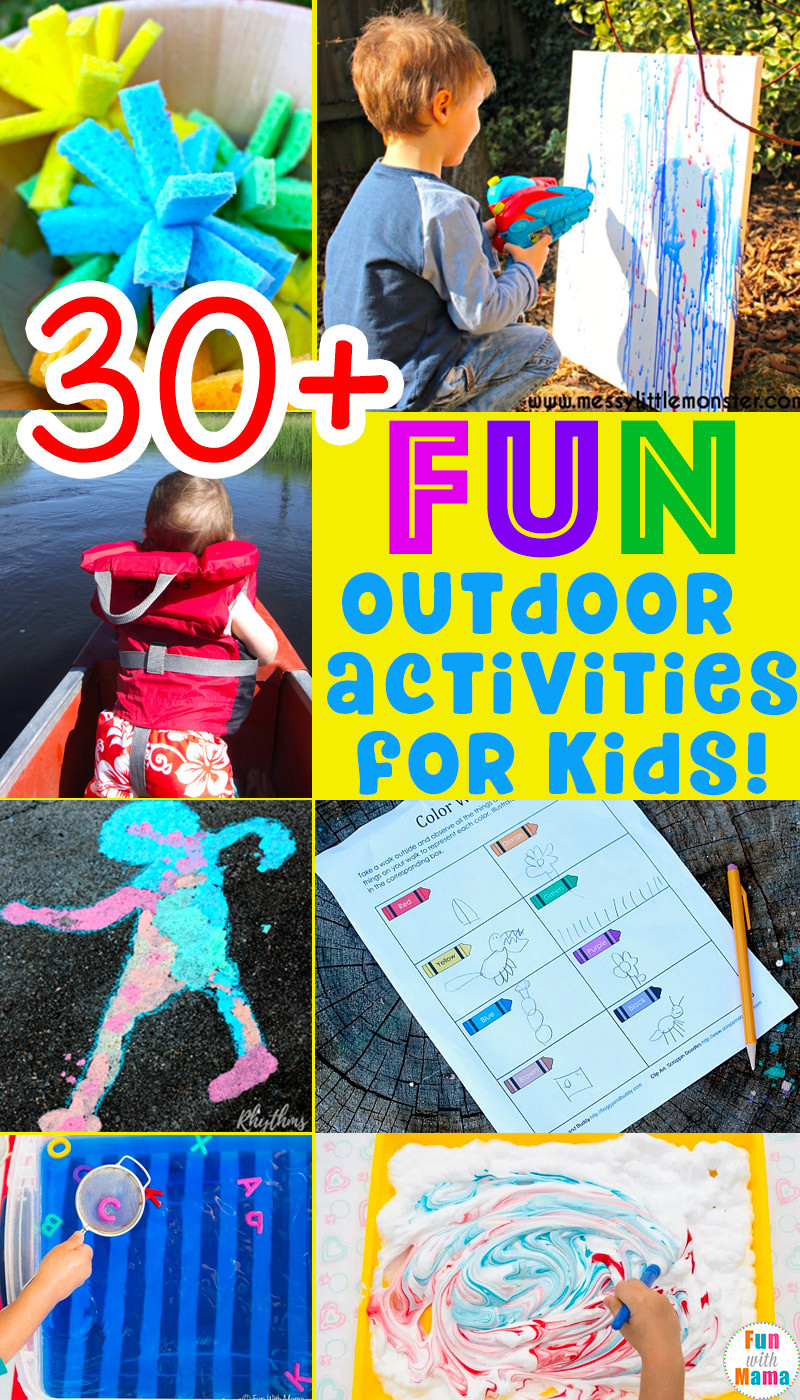 Fun Projects For Toddlers  30 Fun MUST DO Outdoor Activities For Kids Fun with Mama