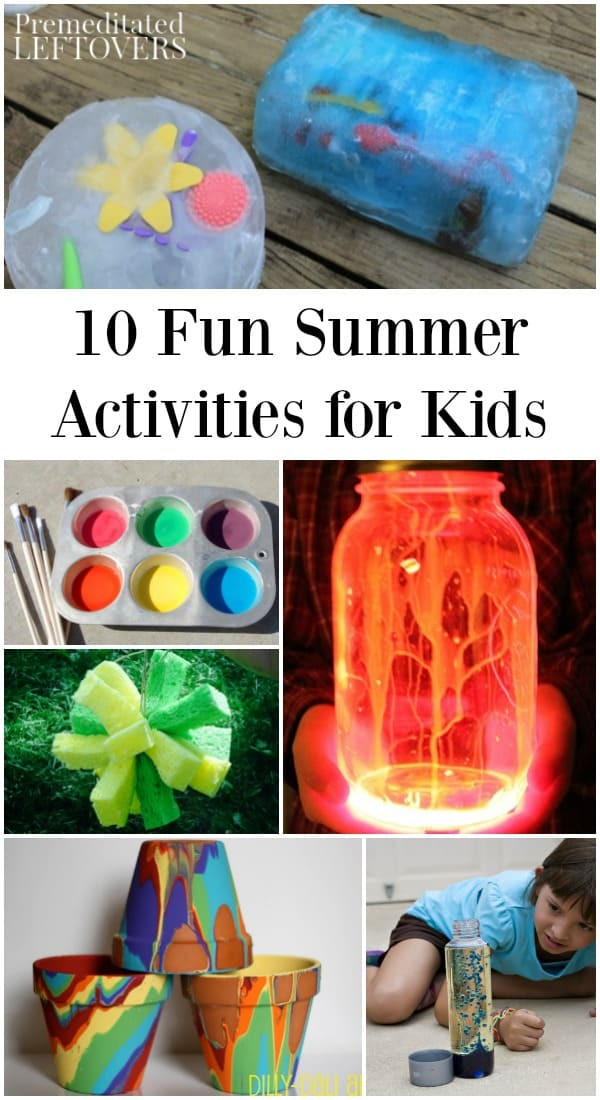 Fun Projects For Toddlers  10 Fun Summer Activities to Do at Home to Keep Kids Busy