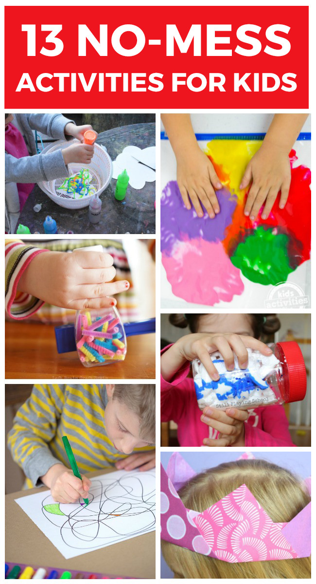 Fun Projects For Toddlers  13 No Mess Activities for Kids