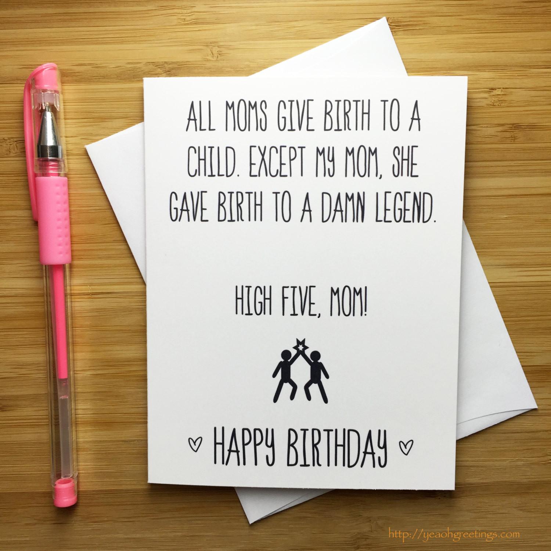 Funny Birthday Card For Mom  Funny Happy Birthday Mom Card Mother Happy Birthday Happy