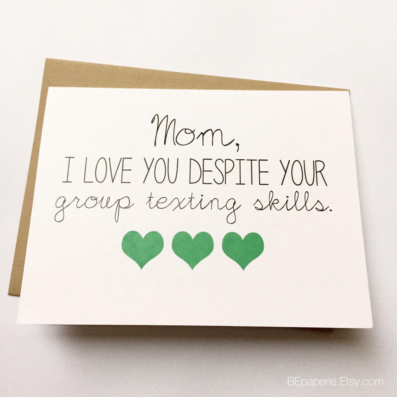Funny Birthday Card For Mom  Funny Mom Card Mother s Day Card Mom Birthday Card
