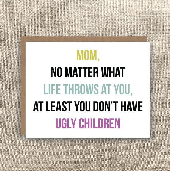 Funny Birthday Card For Mom  Mom Card Funny Mother s Day Card Funny Mom Birthday