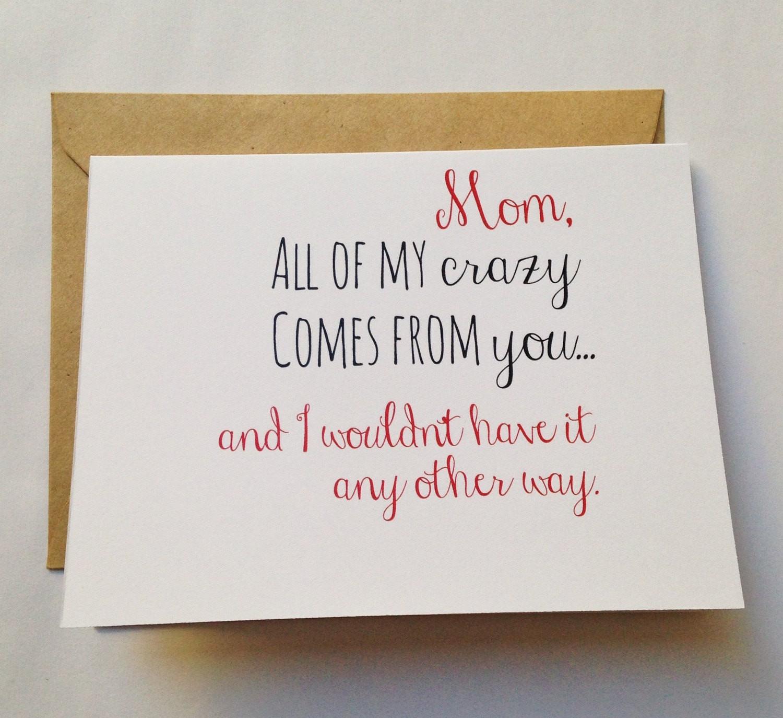 Funny Birthday Card For Mom  Happy Birthday Cards for Mom Mom s Birthday