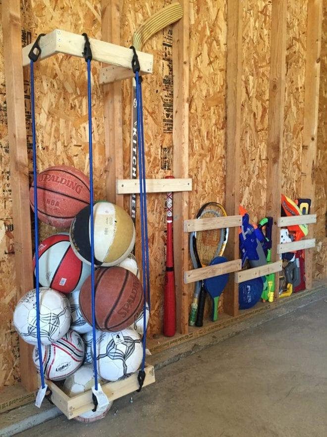 Garage Sports Organizer  Easy DIY Garage Sports Storage Giveaway Pretty