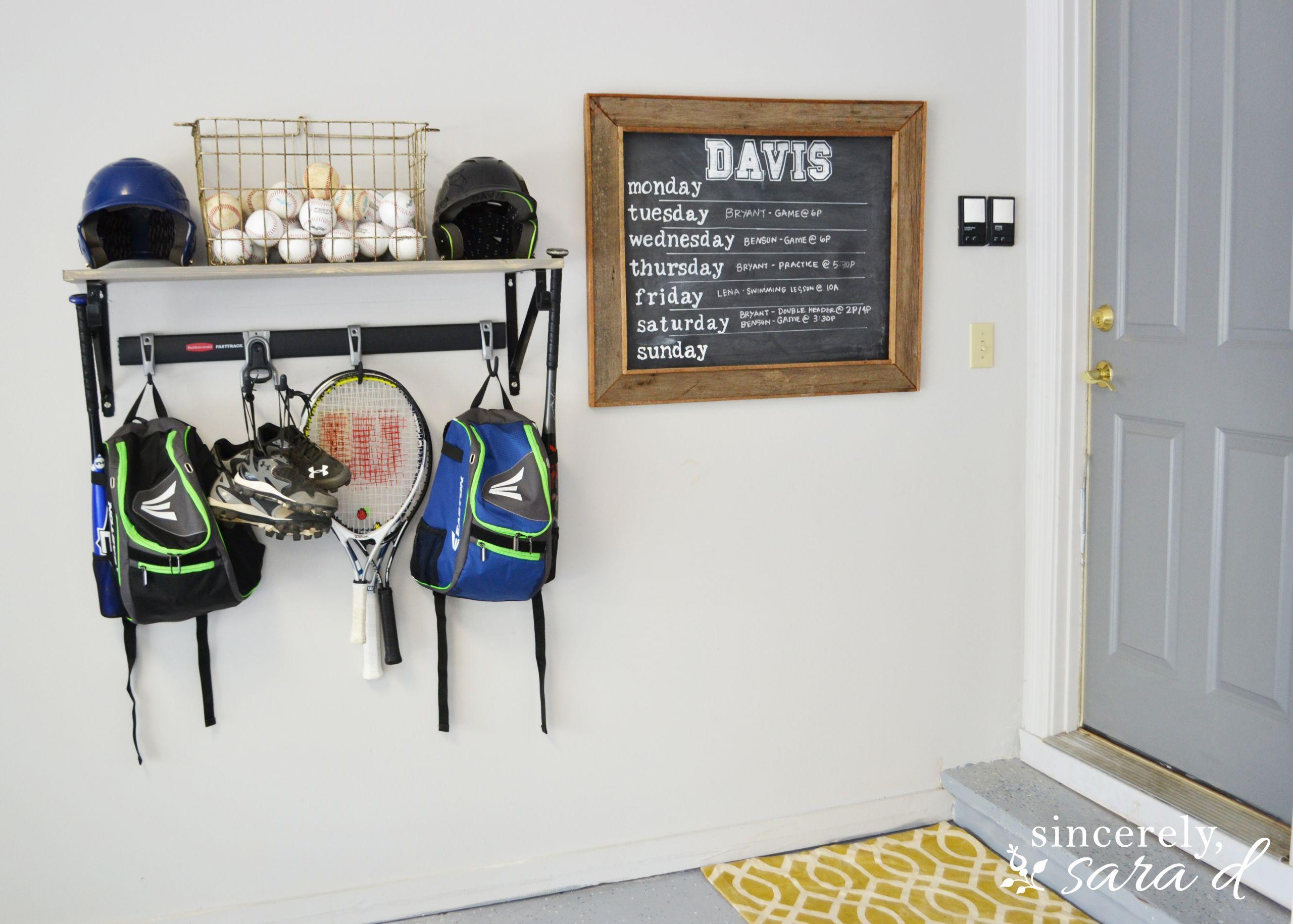 Garage Sports Organizer  Garage Sports Equipment Organizer