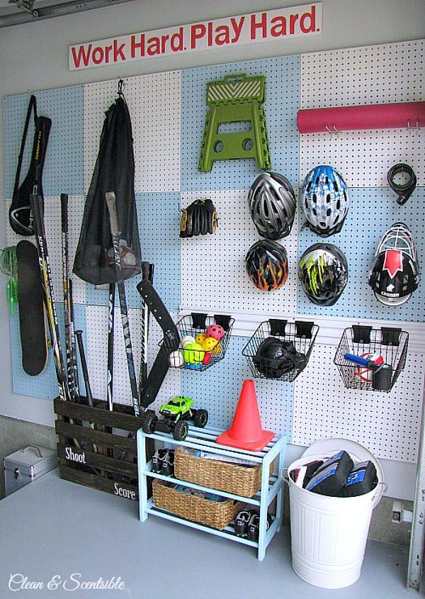 Garage Sports Organizer  How to Clean and Organize the Garage