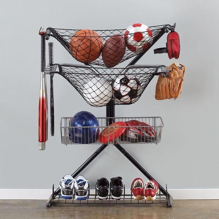 Garage Sports Organizer  Sports Equipment Storage X Rack