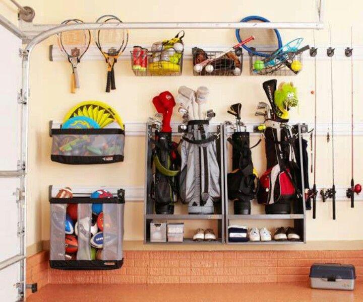 Garage Sports Organizer  Golf Bag & sports equipment storage