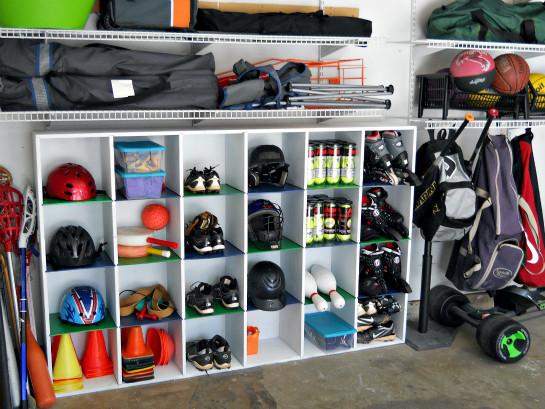 Garage Sports Organizer  6 Amazing Sports Equipment Storage Ideas That Will Blow